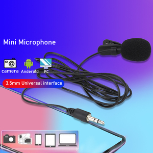 Portable External Clip-On Lapel Lavalier Microphone 3.5mm Jack For IPhone SmartPhone Recording PC Gaming Conference Voice