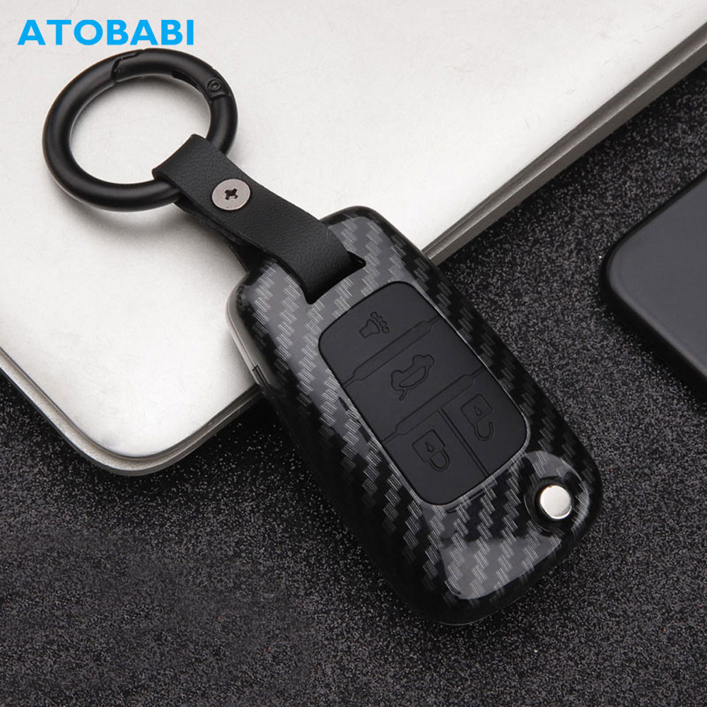 Carbon ABS Car Key Cover Keychain For Chevrolet Traverse Spark Sonic Malibu Impala Equinox Camaro Cruze Remote Fob Protect Case