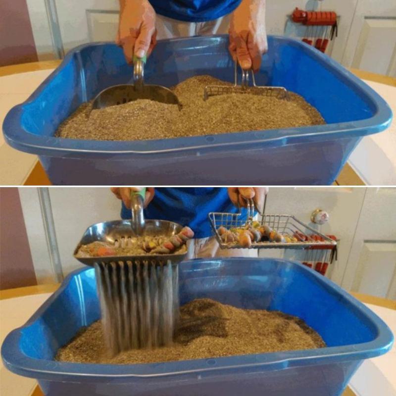 Cat Litter Scoop Stainless Steel Metal Pooper Scoopers Pets Litter Sand Shovel Pet Shit Artifact Dogs Shovel Pet Cleanning Tool