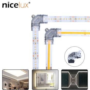 5pcs High-Dichte 2/4pin L Form LED Streifen Stecker für RGB Einzigen Farbe 3528 5050 LED streifen Licht Draht Anschluss Terminal