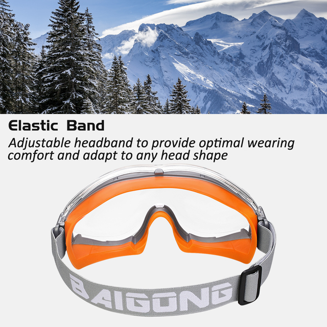 ZOHAN 2PCS Safety Glasses Protective Goggles Anti-UV Waterproof Tactical Sport Protection Glasses Eyewear Eye Protection Riding 3