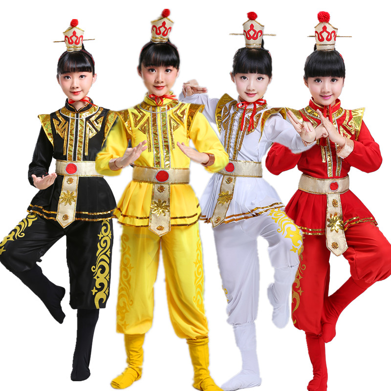 2019 Chinese Costume Children Traditional Wushu Uniform Suit For Kids Kung Fu Girls Boys Stage Performance Martial Arts Sets