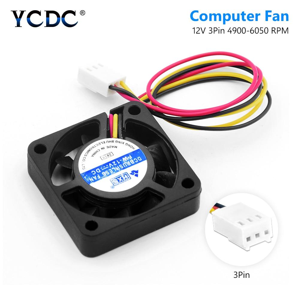 Mute 3 Pin 40mm x 40mm PC CPU Fan DC 12V Computer Cooler Heatsink Exhaust Fan For Video Chip Mini Cooling Fan Radiator