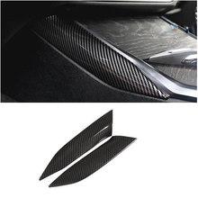 Carbono olhar painel de mudança engrenagem decorativa capa guarnição para bmw série 3 g20 g28 2020 interior centro console lateral tira accessorie