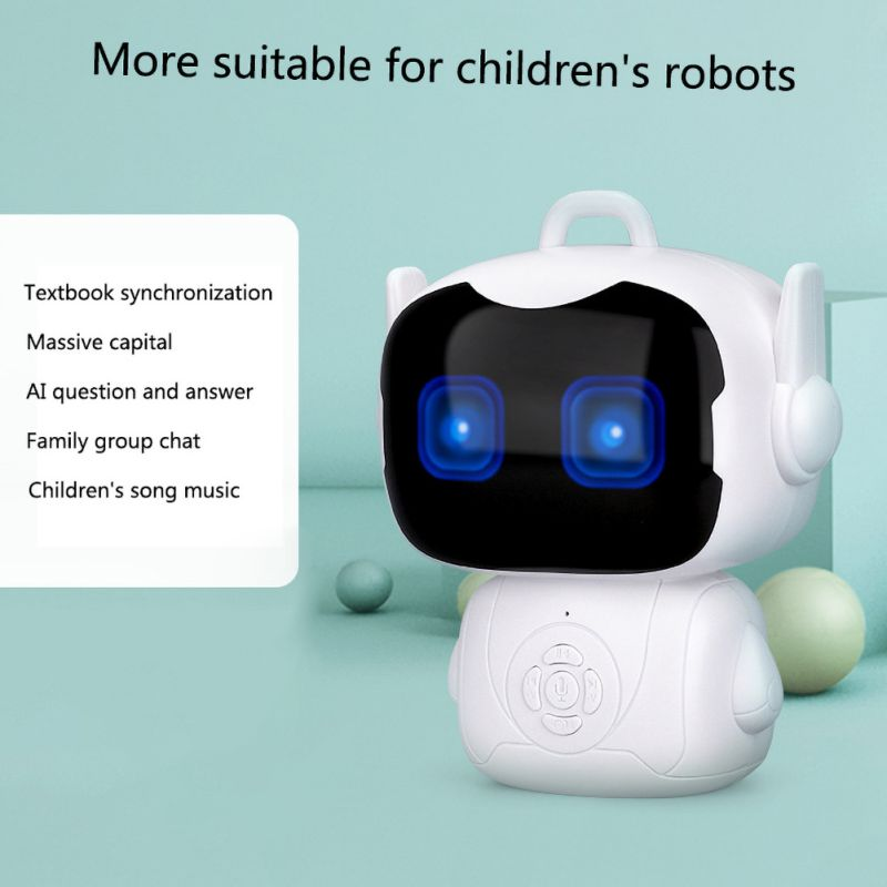 High Children Intelligent Robot Early Education Toys Smart Portable Teacher Toy Dialogue Touch Sensor  Voice Controlled Robot