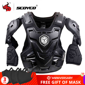 SCOYCO CE Motorcycle Armor Motocross Chest Back Protector Armour Vest Jacket Racing Protective Body Guard MX