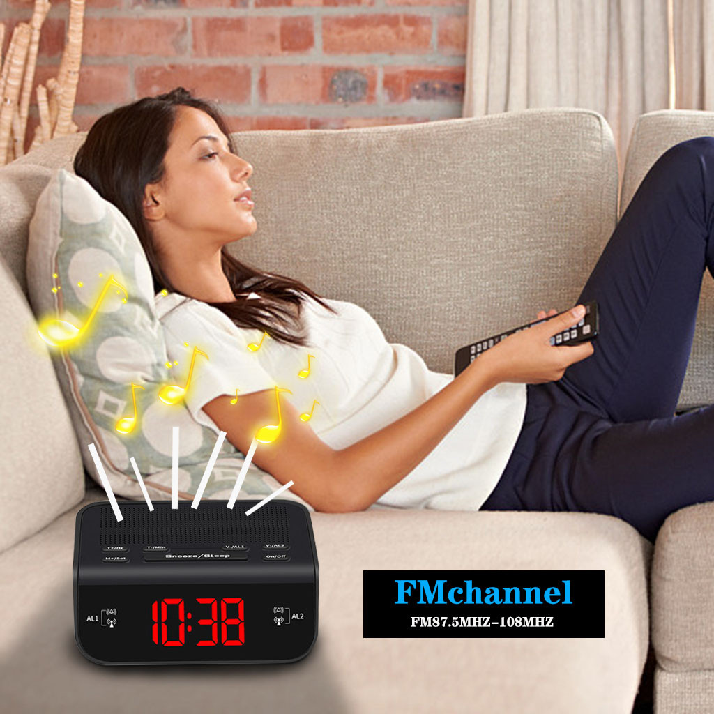 Alarm Clock Fm Radio With Dual Alarm Buzzer Snooze Sleep Function Led Time Cloc Alarm Clock Despertador 2020 Часы Настольные(China)