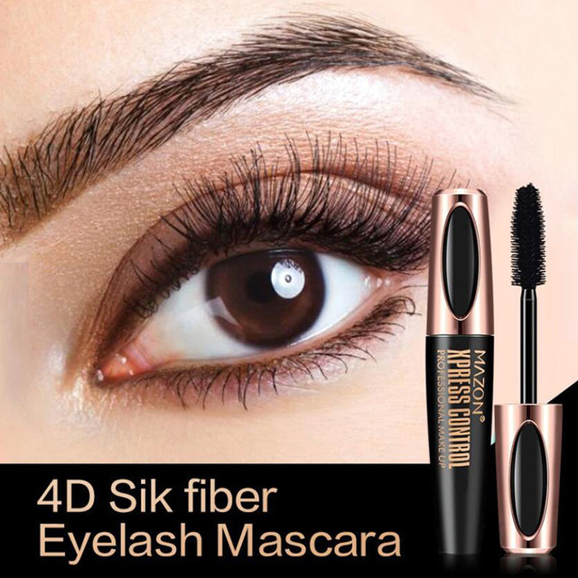 4D Silk Fiber Lashes Mascara Waterproof Mascara for Eyelash Extension Black Thick Lengthening Eye Lashes Makeup Korean Cosmetics 1
