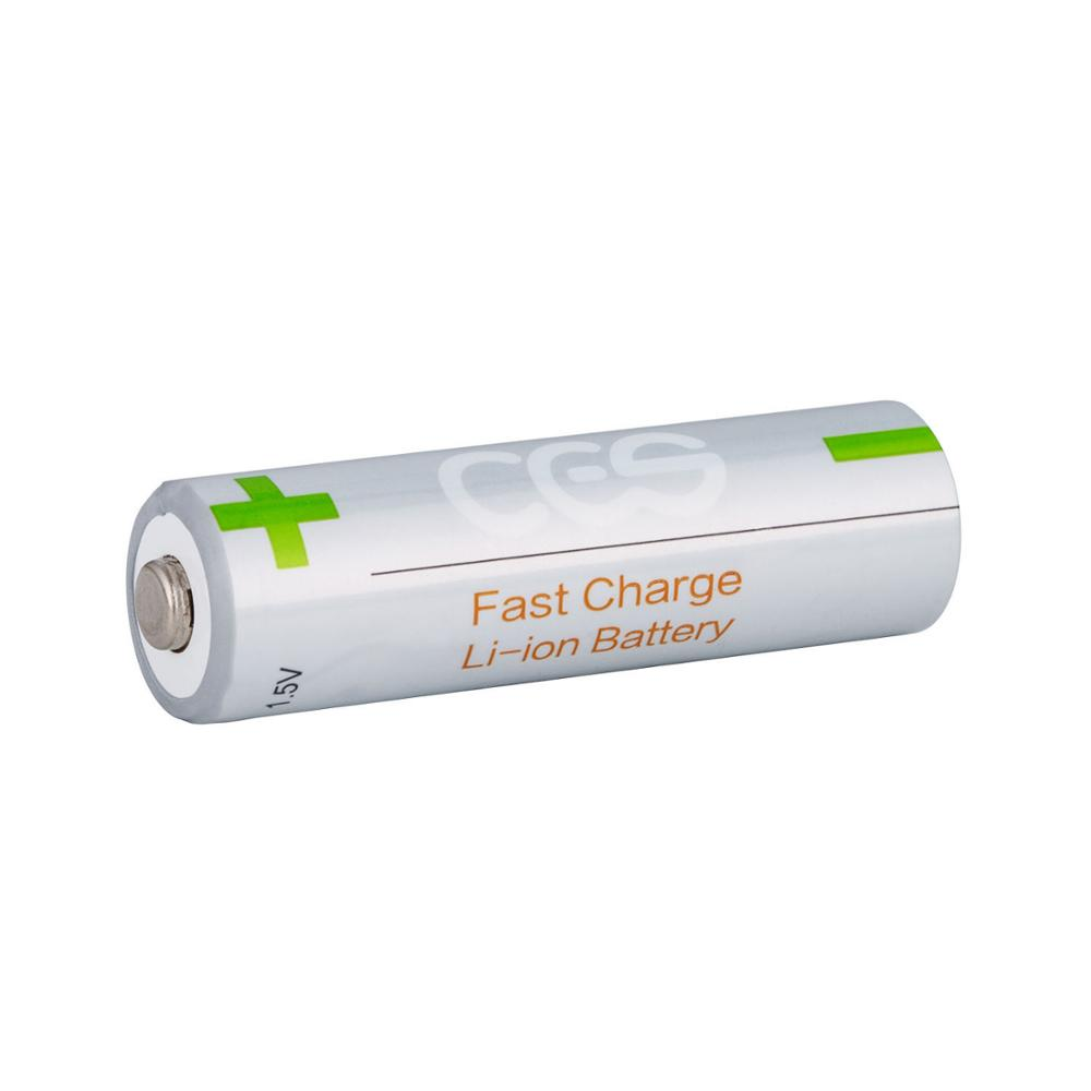 2PCS <font><b>AA</b></font> <font><b>1.5V</b></font> <font><b>battery</b></font> constant voltage 2775mWh rechargeable <font><b>lithium</b></font> <font><b>battery</b></font> image