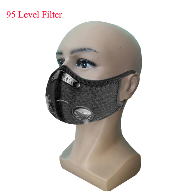 Sports/cycling mask flu facial masks anti pollution mask for running 95 level replaceable filter