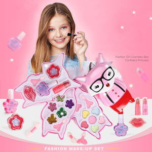 Image 3 - Girls Make Up Toy Set Pretend Play Princess Makeup Beauty Safety Non toxic Box Kit Toys for Girls Dressing Cosmetic Kids Gifts