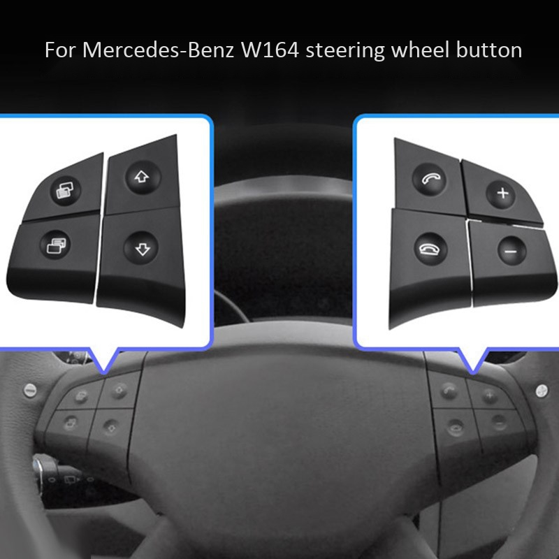 Car Multifunction Audio Steering wheel covers Button for Mercedes Benz W164 GL ML 2006 2009 Steering Covers     - title=