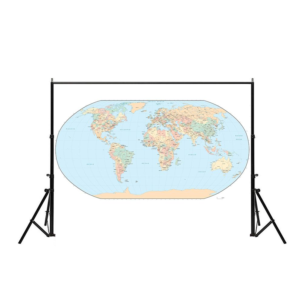 150x100cm World Map Mercator Projection Non-woven Waterproof Map Without National Flag For Travel And Tour