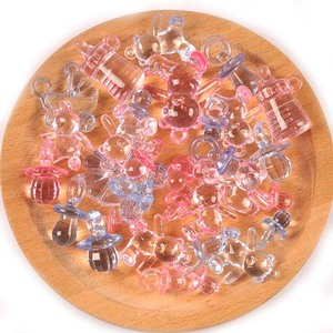 10 pçs rosa/azul mini chupetas pingentes decorações do chuveiro de bebê alimentação manequim chupeta mamilos meninos meninas alimentador casa decoração c2434