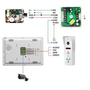 Image 5 - HomeFong Video Intercom 10 zoll Video Tür Telefon 1200TVL Weitwinkel Kamera Video Türklingel Haus Intercom Access Control System