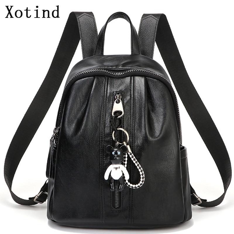 Women Soft Backpacks 100% Genuine Leather Backpack Brand Teens School Style Student Girl Backpack Casual Travel Ladies Backpacks
