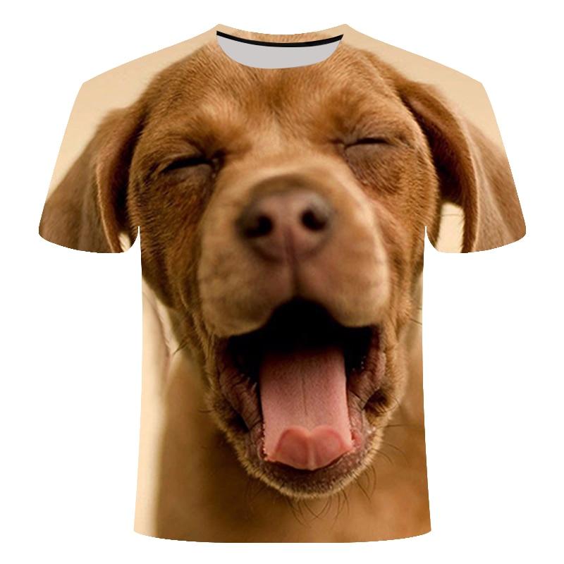 New Hot Lare Dog 3D Animal Print Cool Funny T-Shirt Summer Tops T Shirt Men Tshirt Short Sleeve T-shirt Male Fashion Male S-6xl