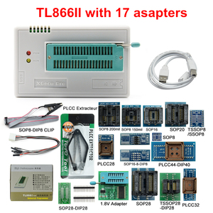 Image 1 - MINI PRO TL866 II Plus V9.0 Original USB Universal Programmer EEPROM FLASH+17 Adapters High Speed Programmer TL866