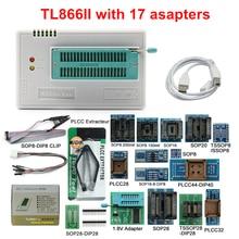 MINI PRO TL866 II artı V9.0 orijinal USB evrensel programcı EEPROM FLASH + 17 adaptörleri yüksek hızlı programcı TL866