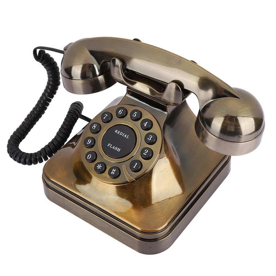 WX-3011# Antique Bronze Telephone Vintage Retro Landline Phone Desktop Caller Home Office Hotel Antique Telephone telefono