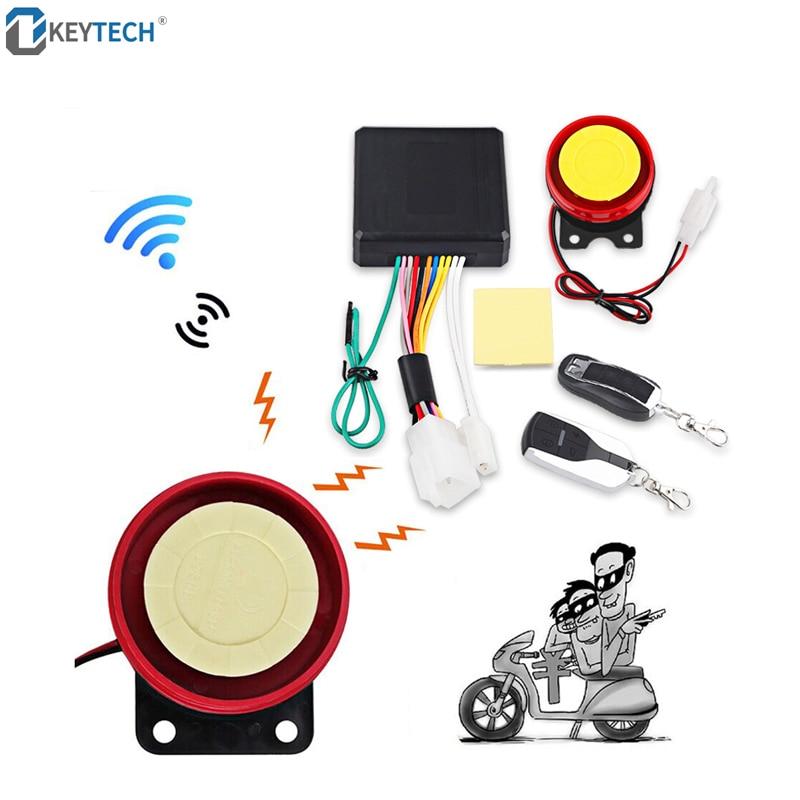 OkeyTech Remote Control Engine Start Motorcycle Keyless Entry Moto Alarm System Universal Anti-theft Security System Speaker