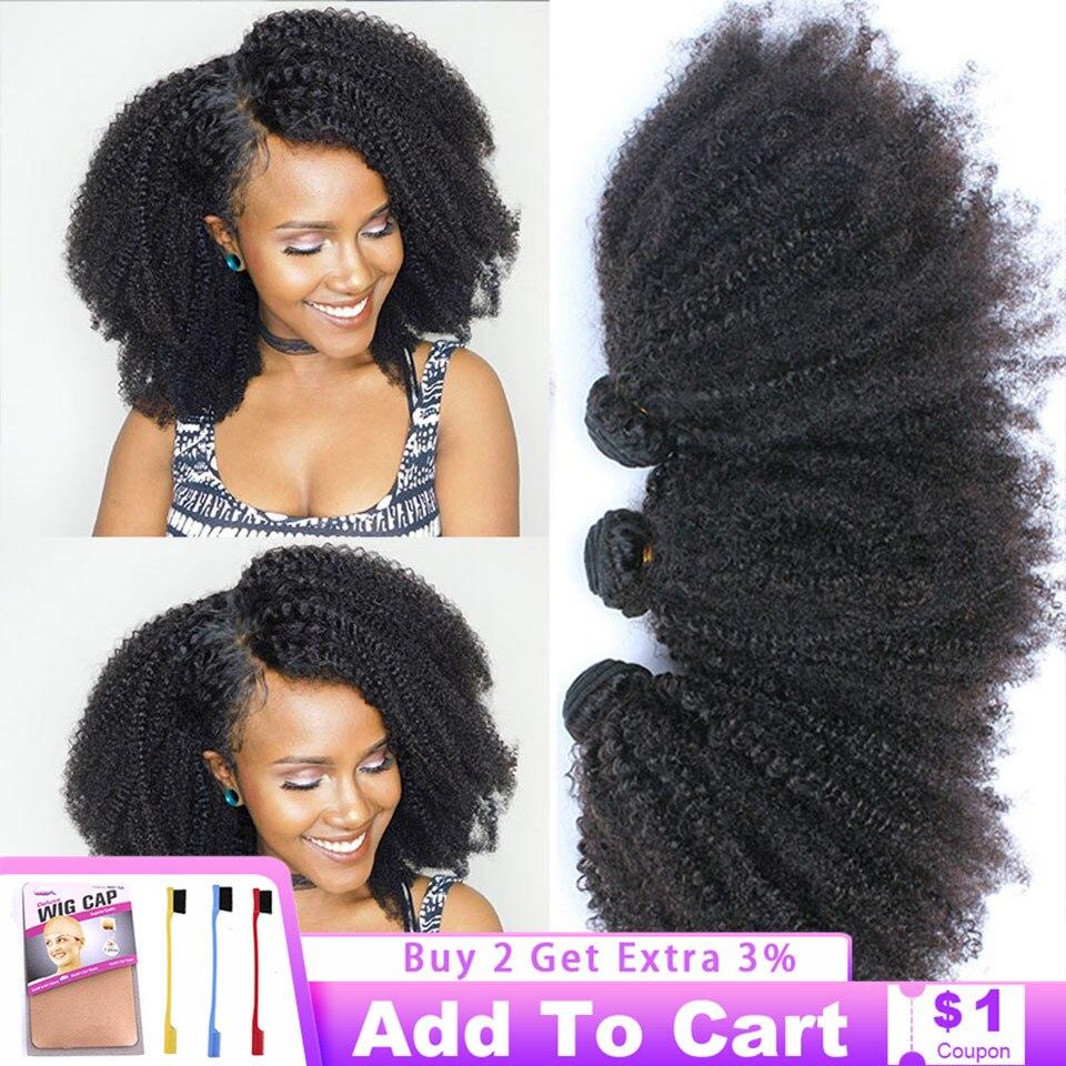 Extensiones de cabello humano Afro rizado, extensiones de cabello humano Afro rizado Natural de 8-20 pulgadas, extensiones de pelo Remy a granel Vrvogue, venta al por mayor