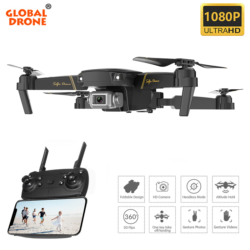 GLOBAL DRONE RC Drones with Camera HD Altitude Hold Dron Com HD Camera Toys for Boys FPV Quadrocopter-in RC Helicopters from Toys & Hobbies    1