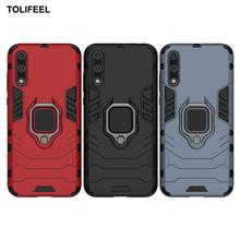 Funda armadura a prueba de golpes para Huawei Y8P, soporte magnético para anillo de coche, funda trasera del teléfono para Huawei Y8P