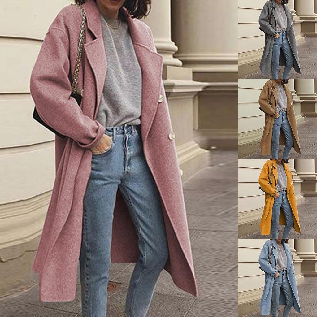 manteau femme hiver 2020 winter coat women Casual Long Sleeve Ladies Outwear Overcoat Sweater Coats faux fur coat abrigo mujer