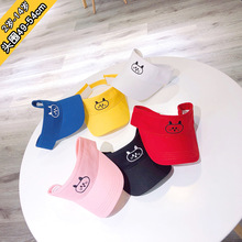 2019 49-54cm 2Y-14Y Summer childrens hat tide bear soft  breathable mesh sunscreen cap baby hats girl
