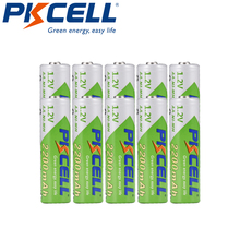 10 Uds PKCELL Ni MH 1,2 V 2200mAh batería AA recargable batería de baja autodescarga duradera para linterna