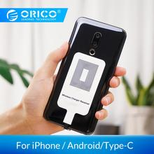 ORICO QI Wireless Charger Receiver For iPhone Wireless Charging Receiver for Micro USB Type-c Phone цена