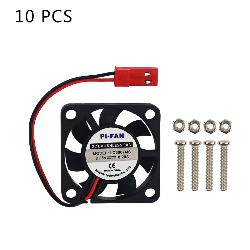 10 PCS Raspberry Pi Cooling Fan 5V 3.3V GPIO Power Supply Fans Cooler Radiator For Raspberry Pi 4B/3B+/3B For Orange Pi 3