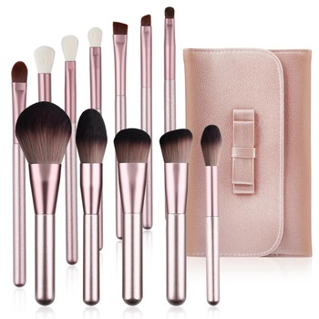 Makeup Brushes Set WeChip 12pcs Premium Makeup Brush Kit Kabuki Foundation Face Powder Blush Eyeshadow Concealers Cosmetic Brush 1