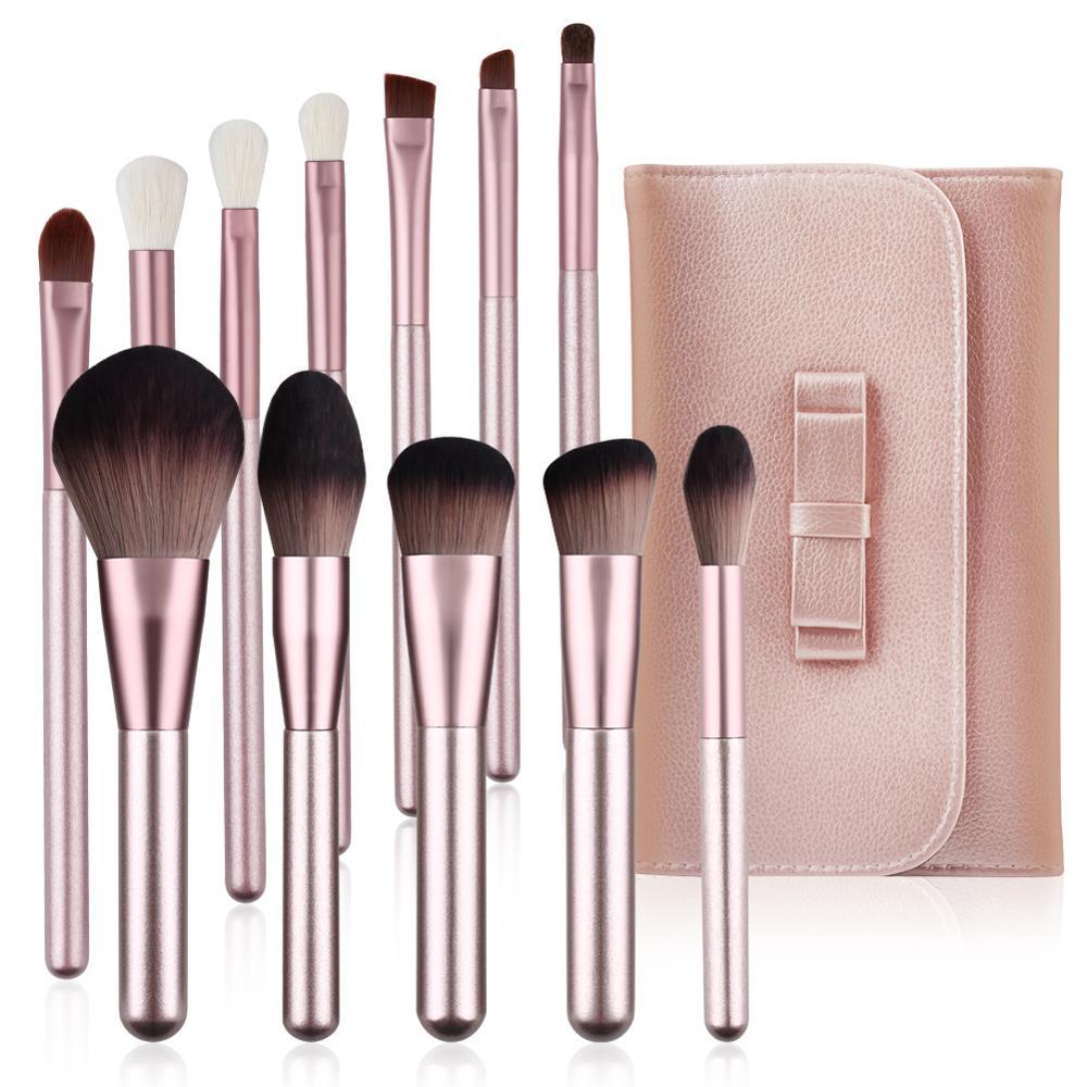 Makeup Brushes Set WeChip 12pcs Premium Makeup Brush Kit Kabuki Foundation Face Powder Blush Eyeshadow Concealers Cosmetic Brush