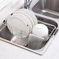 De acero inoxidable de la cocina rejilla para escurrir para fregadero piscina retráctil cestas para escurrir de lavado de Platos y platos rack de almacenamiento de mx01151512