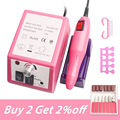 Nail Drill Machine 20000RPM Nail Supplies For Professionals Manicure Pedicure Low Noise Electric nail Drill Bit Sets Tools