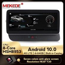 MEKEDE 4G LTE nowy 1920x720 HD Android 10 8 rdzeń 4 + 64G samochodowy odtwarzacz dvd radio odtwarzacz multimedialny nawigacja GPS dla Audi Q5 2009 2017