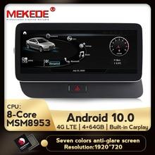 MEKEDE 4G LTE yeni 1920x720 HD Android 10 8 çekirdekli 4 + 64G araç dvd oynatıcı radyo multimedya oynatıcı GPS navigasyon Audi Q5 2009 2017