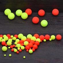 100 шт пенопластовые Рыболовные Поплавки плавучие шарики плавающие
