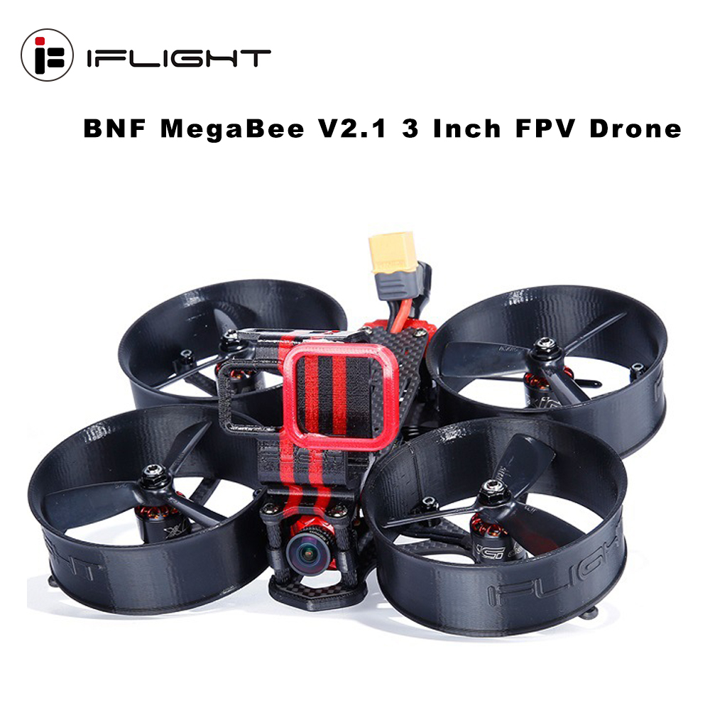 IFlight MegaBee V2.1 3 Inch Cinewhoop FPV Racing Drone F4 Flight Controller 2-4S 35A ESC 500mW VTX Support GoPro5/6/7 4K Camera