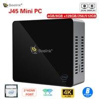 Beelink J45 Мини ПК 128/256/512 ГБ J4205 натуральная Windows10 2,4 ГГц + 5,8 ГГц Wi-Fi, BT4.0 Поддержка Netfix 4K H.265 Быстрая зарядка