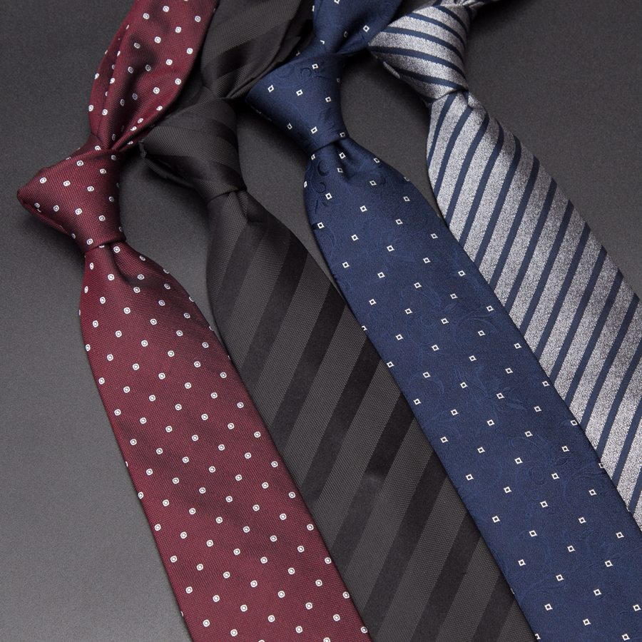Men Silk Ties Luxury Mens Fashion Dot Stripe 8cm Neckties Gravata Jacquard Tie Business Man Wedding Dress Shirt Accessories
