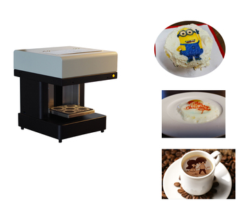 Factory offer Selfie 3D cappiccino  Latte art coffee printer Small cake Food printer price
