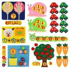 Enseñar a los niños tejido Diy de educación temprana juguetes de los niños Montessori enseñanza SIDA a aprender manos-en matemáticas Juguetes