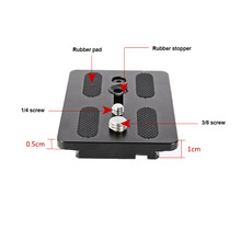 1 Pcs Tripod Head Camera Quick Release Plate Board Fast DSLR Durable for WF-717 OUJ99
