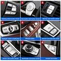 Хромированная ABS Автомобильная интерьерная пуговица декоративный чехол с блестками отделка наклейки для BMW 5 серии f10 f18 520 525 528 530 2011-17 автомо...