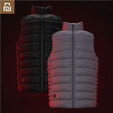 Youpin Graphene Intelligent Temperature Control Fever Goose Down Vest couple models 4 file temperature control plug in