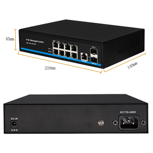 Image 5 - 8 יציאת מתג Gigabit PoE Ethernet מתג מנוהל PoE 48V מתג עם 2 Gigabit SFP חריצים IGMP VLAN ניהול poE מתג