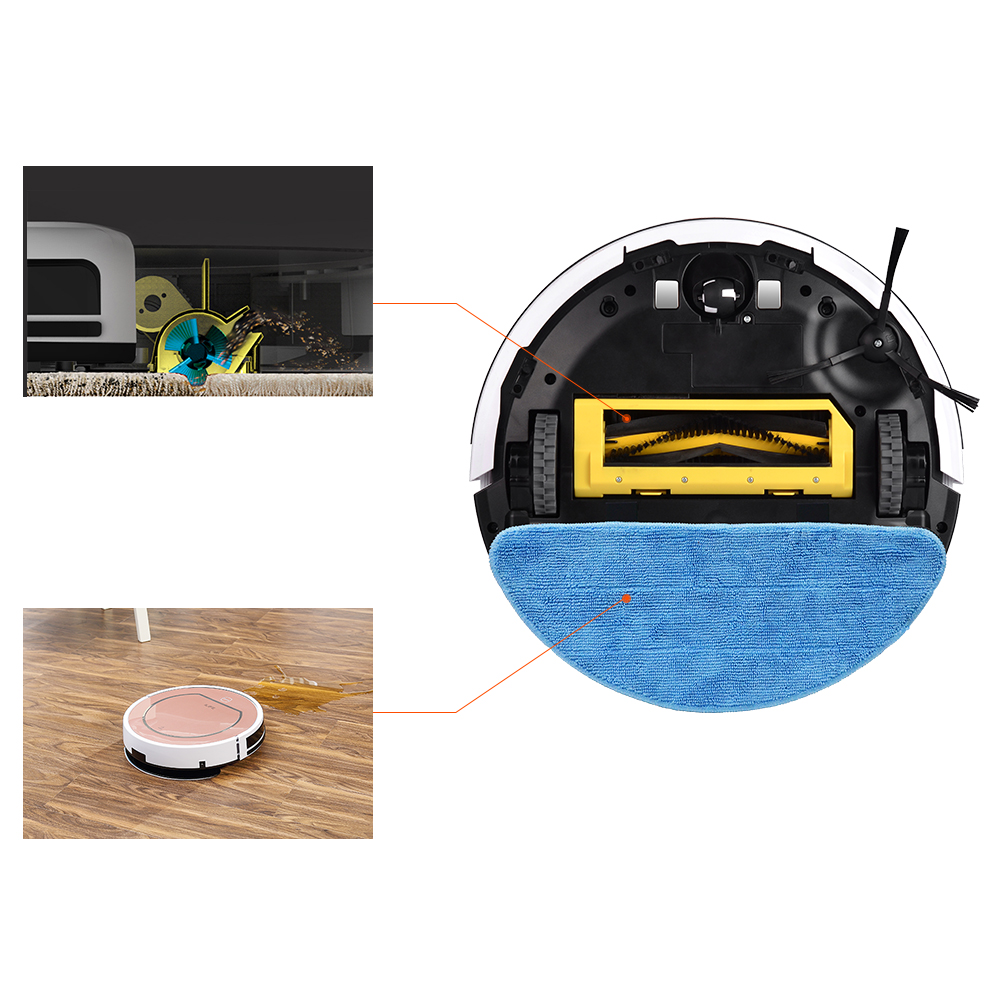 ILIFE V7s Plus Robot aspirateur balayage et nettoyage humide désinfection pour sols durs et tapis course 120 minutes Charge automatiquement - 6